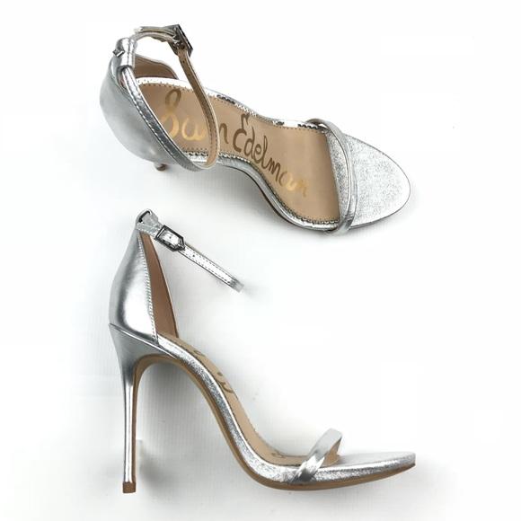 6b3e6e6be9d17e New Sam Edelman nadya Silver Stiletto Heels